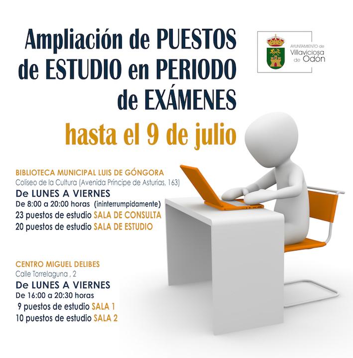 Más puestos de estudio en las bibliotecas de Villaviciosa durante el periodo de exámenes