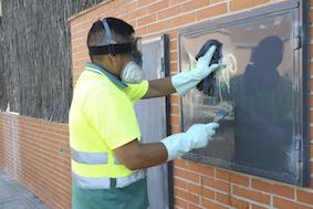 Boadilla elimina una media de 270 grafitis al mes