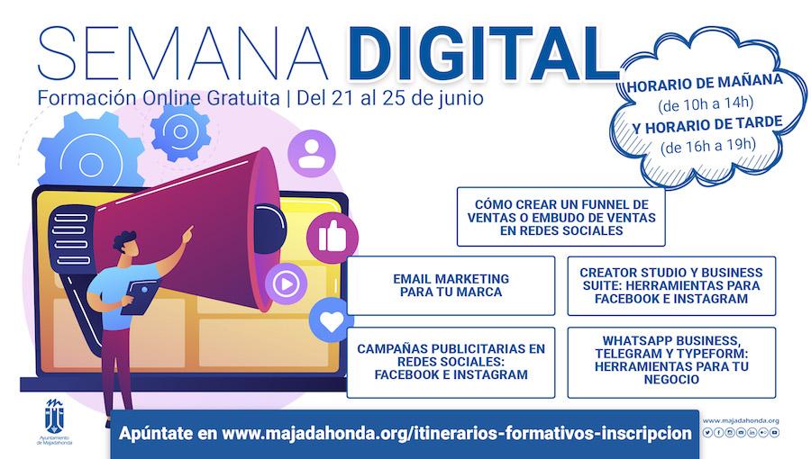 Formación sobre el mundo digital gratuita en Majadahonda