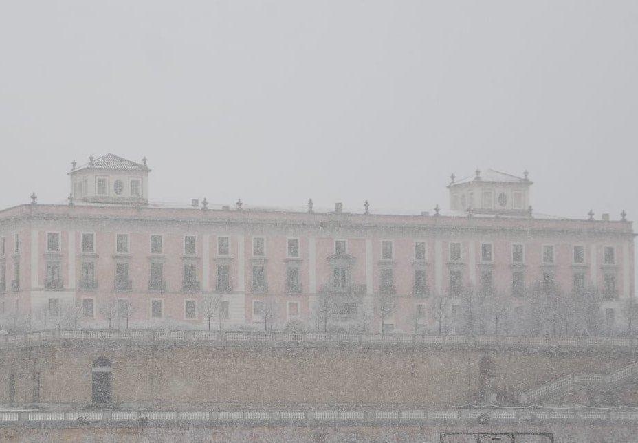 La borrasca Filomena cubre de blanco el oeste de la Comunidad de Madrid