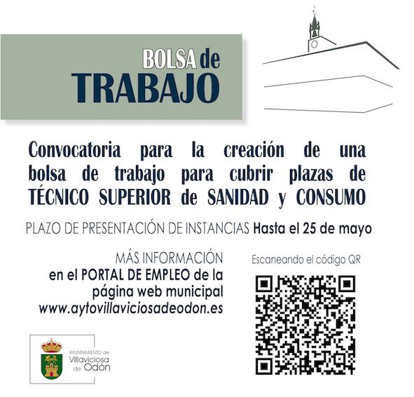 Vacantes en el Ayuntamiento de Villaviciosa de Odón para técnicos de Sanidad y Consumo