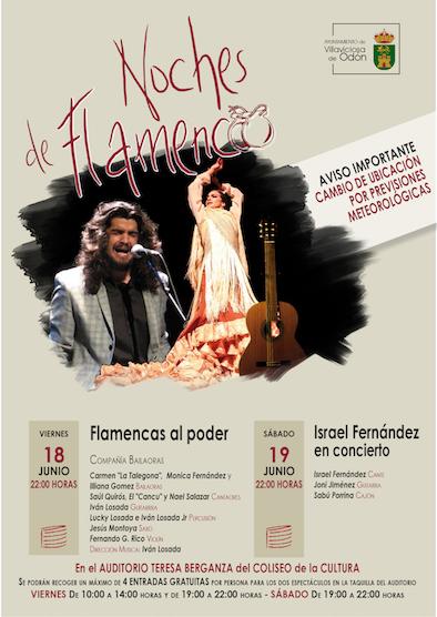 Flamencas al poder e Israel Fernández actúan este de semana en las Noches de Flamenco de Villaviciosa
