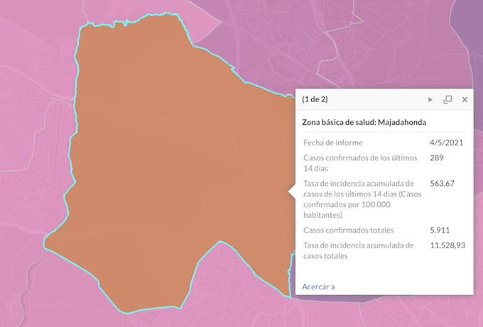 La zona básica de salud de Majadahonda continuará confinada una semana más
