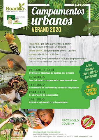 Campamentos temáticos en el Aula Medioambiental de Boadilla durante el mes de julio