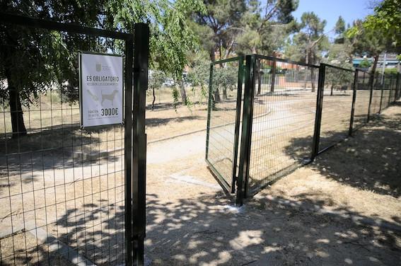 2.000 metros cuadrados para perros en el parque Juan Pablo II de Boadilla