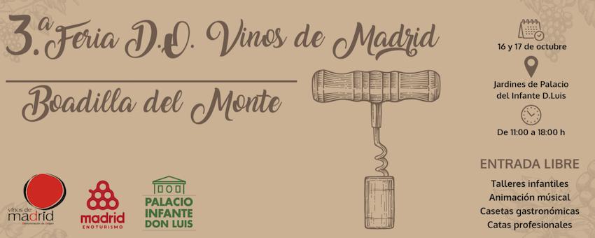 Prueba los mejores vinos de Madrid en el Palacio de Boadillla los día 16 y 17 de octubre