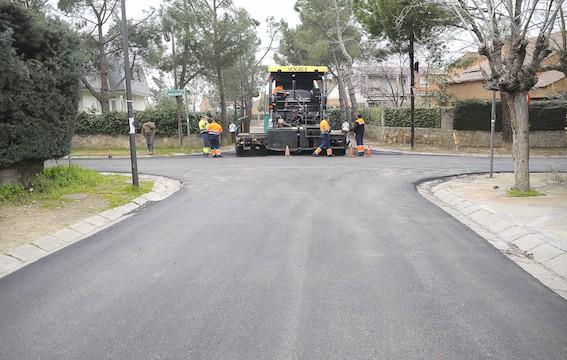 Finaliza el asfaltado en Viñas Viejas y las urbanizaciones históricas de Boadilla