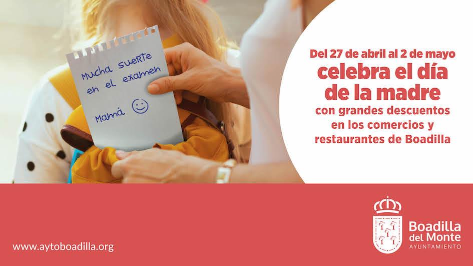 Descuentos y ofertas en comercios y restaurantes de Boadilla por el Día de la Madre