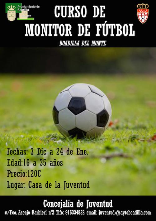 Curso de monitor de fútbol base para jóvenes