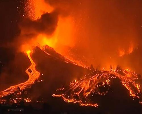 Las imágenes más sobrecogedoras del volcán de La Palma